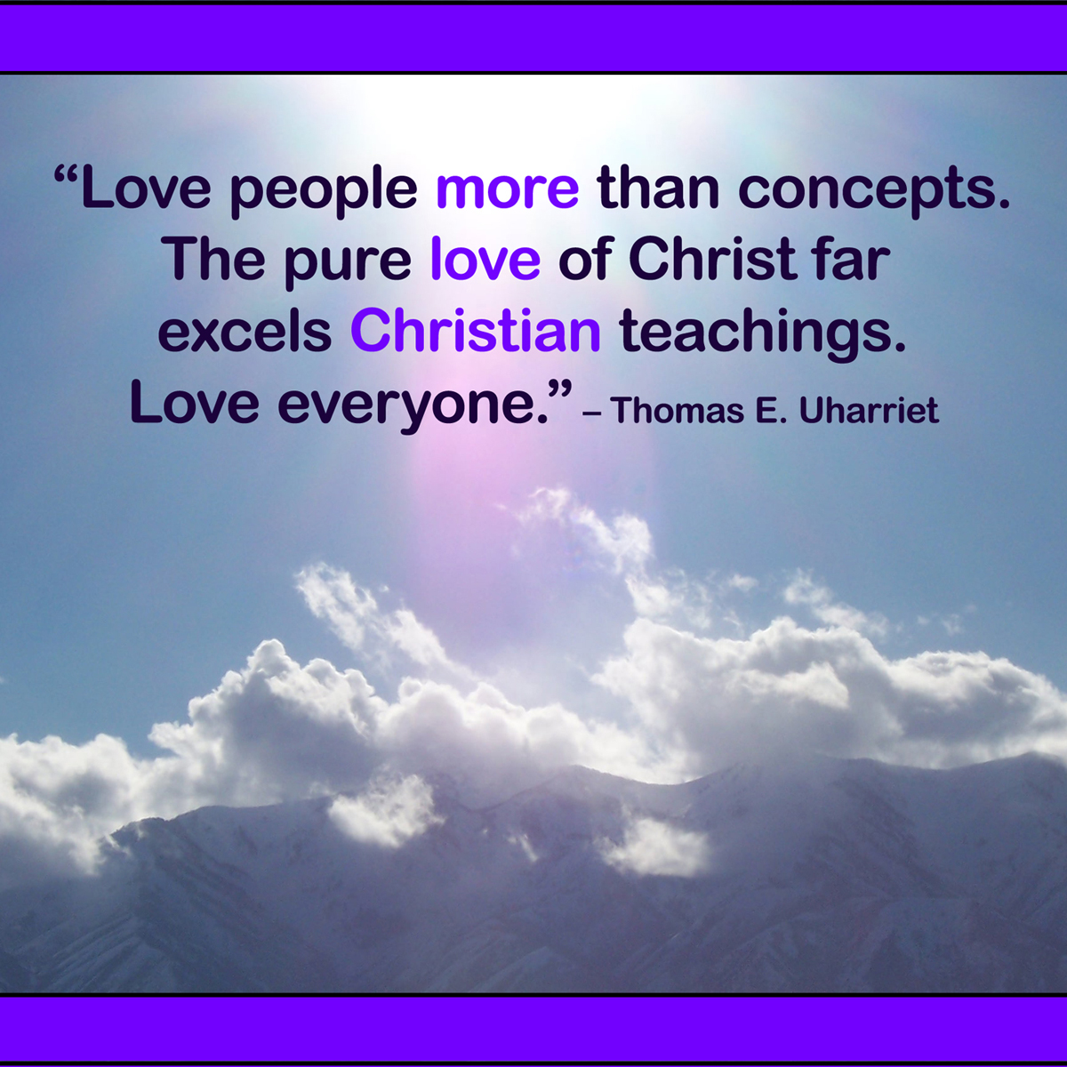 Love People More Than Concepts