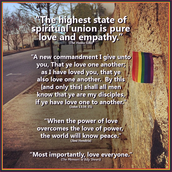The highest state of spiritual union is pure love.